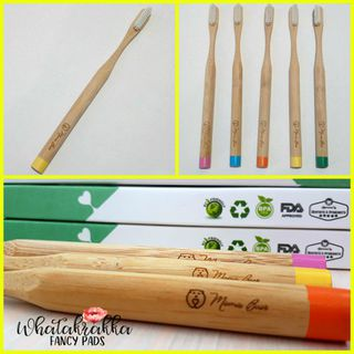 Yellow - Adult Bamboo Toothbrush