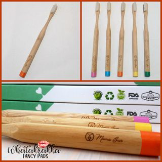 Orange - Adult Bamboo Toothbrush