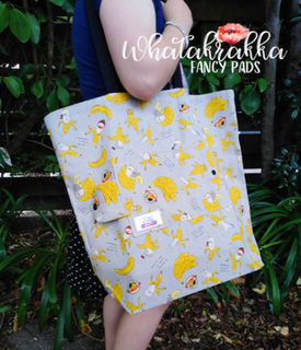 Banana Kitties - Fancy Pocket Tote