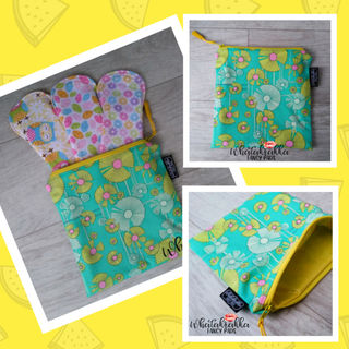 Retro Floral Zippy Bag