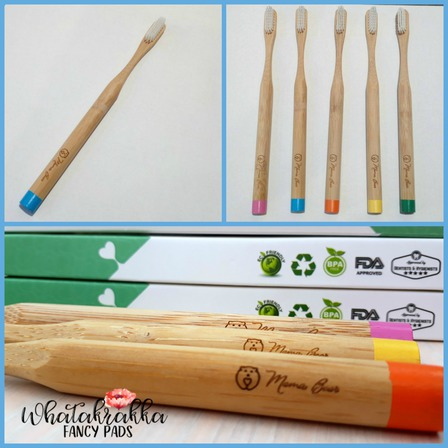 Blue - Adult Bamboo Toothbrush