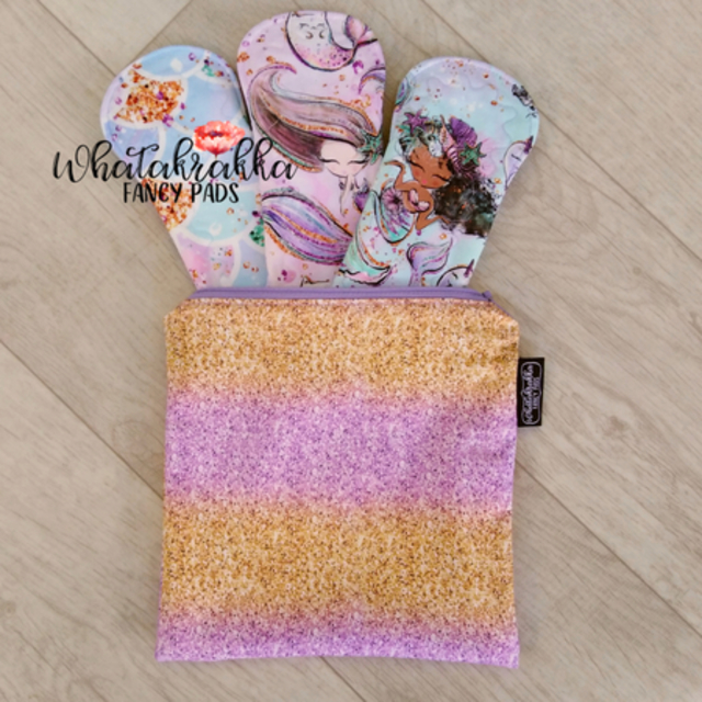 Gold & Purple Glitter - Fancy Wet Bag