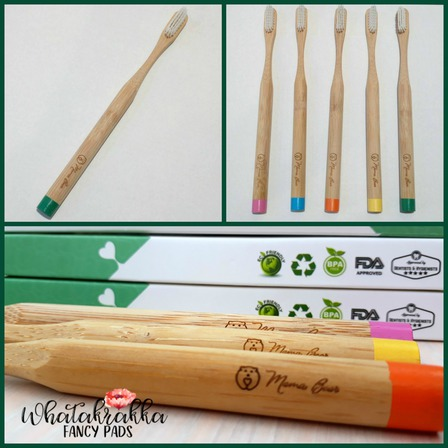 Green - Adult Bamboo Toothbrush